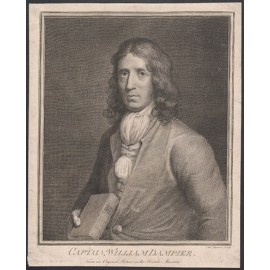 Captain William Dampier engraving Charles Sherwin Thomas Murray