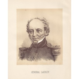 General Laidley portrait lithograph