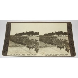 Review Troops Governor General Rose stereoview