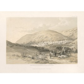 David Roberts lithograph Holy Land Nablous The Ancient Shechem