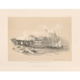 David Roberts lithograph Holy Land Citadel Sidon