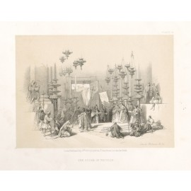 David Roberts lithograph Holy Land Stone Unction Jerusalem