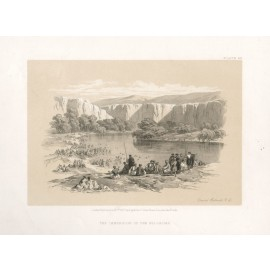 David Roberts lithograph Holy Land Immersion Pilgrims
