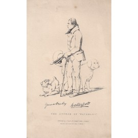 Walter Scott author Waverley portrait engraving print