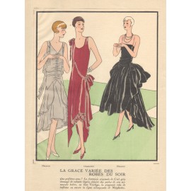 french art deco pochoir fashion designs mirande charlotte