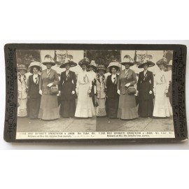 Great Suffragette Demonstration London Vida Goldstein Stereoview