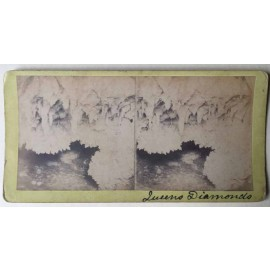 Jenolan Cavequeens diamonds Stereoview albumen photograph Joseph Rowe 1890