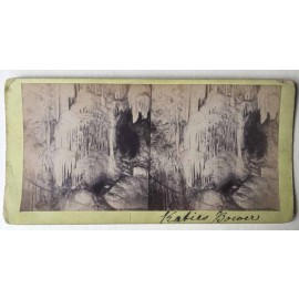 katies bower Jenolan Caves Stereoview albumen photograph Joseph Rowe 1890