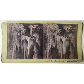 Architect's Studio Jenolan Caves Stereoview albumen photograph Joseph Rowe 1890
