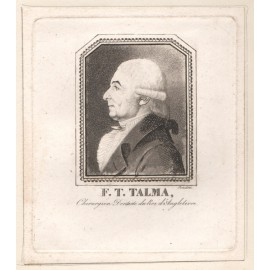 Talma portrait engraving Dentist French