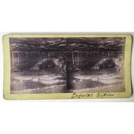 Crystal Cities Jenolan Caves Stereoview albumen photograph Joseph Rowe 1890