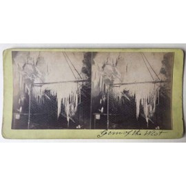 Gem of the West Jenolan Caves Stereoview albumen photograph Joseph Rowe 1890