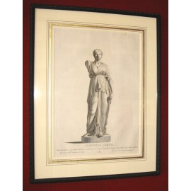 Agrippina Roman matron sculpture engraving bust