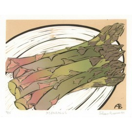 Asparagus Aileen Brown limited edition signed linocut