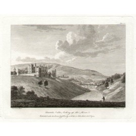 Alnwick Castle Northumberland antique print engraving