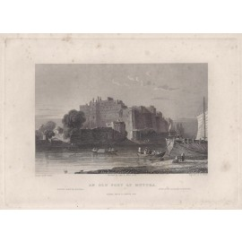 India Fort Muttra Elliot antique engraving