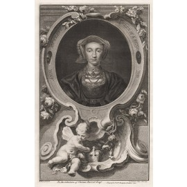 Ann Cleves Queen Houbraken portrait engraving print