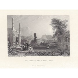 India Aseerghur antique engraving