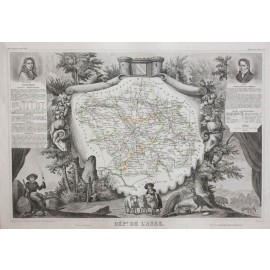aube levasseur french department antique map