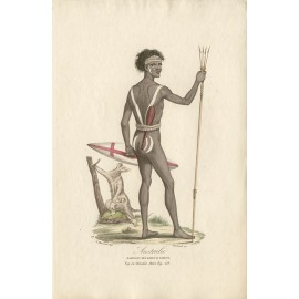 Australie Habitant des Bords du Darling engraving Massard