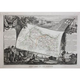 bouches de rhone levasseur french department antique map