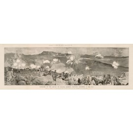Boer War Panorama of the Battle of Colenso photogravure 1900