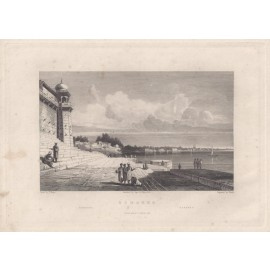 India Benares Elliot antique engraving
