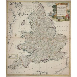 kitchin general map of england wales antique