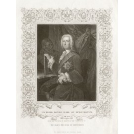 Richard Boyle Earl Burlington portrait engraving