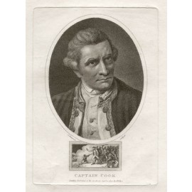 Captain Cook portrait engraving Nathaniel Dance 1800