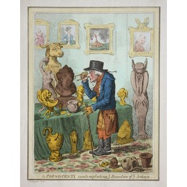 COGNOCENTI contemplating Beauties Etching James Gillray