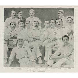 The Coming Australian Cricket Team antique photogravure 1896