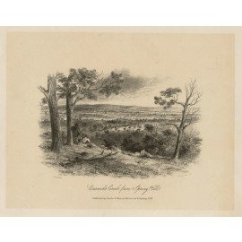 Creswicks Creek Spring Hill lithograph Tingle ST Gill