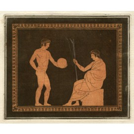 Discobolus William Hamilton Greek Vase painting engraving Etruscan