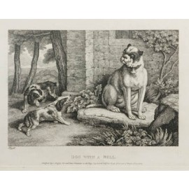 Dog Bell Etching Samuel Howitt