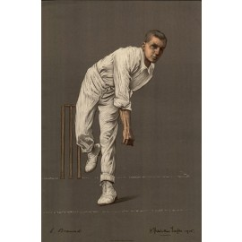 Leonard Braund Empire Cricketers antique lithograph Chevallier Tayler