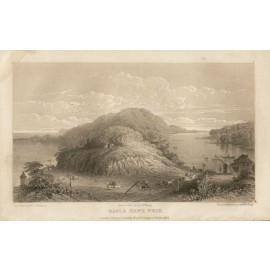 Eagle Hawk Neck Tasmania lithograph Mundy 1852