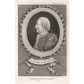 John Earl of Sandwich engraving portrait