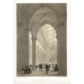 Eglise St Denis Paris France lithograph benoist splendeur