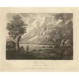 Lake District Falcon Crag Green antique engraving