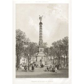 Place du Chatelet Paris France lithograph benoist splendeur