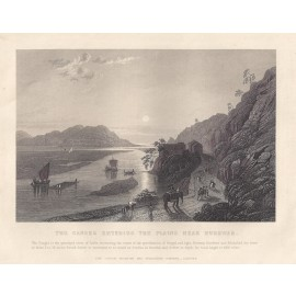 India Ganges antique print engraving