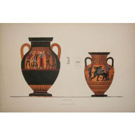 Greek vases lithograph Albert Genick