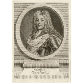 George II King England portrait engraving print