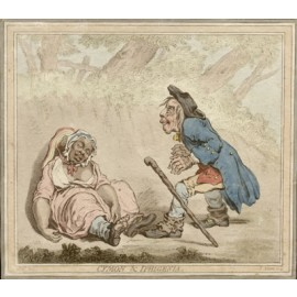 James Gillray etching Cymon Iphigenia caricature