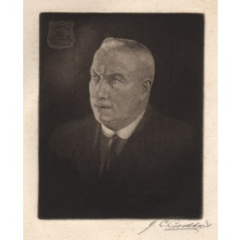 Self Portrait etching by Joseph Christian Goodhart