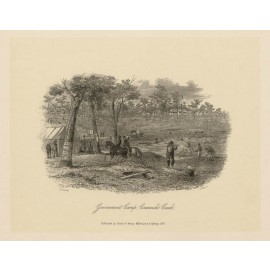 Government Camp Creswicks Creek lithograph Tingle ST Gill