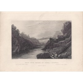 India Grass Rope Bridge Teree Elliot antique engraving