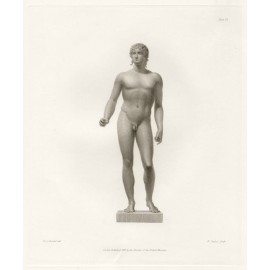 Roman Bronze Statue engraving Corbould