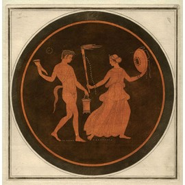 Satyr Maenad William Hamilton Greek Vase painting engraving Etruscan